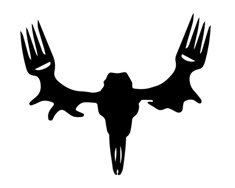 "MeatEater Decal 6"" - in Black or White vinyl -"