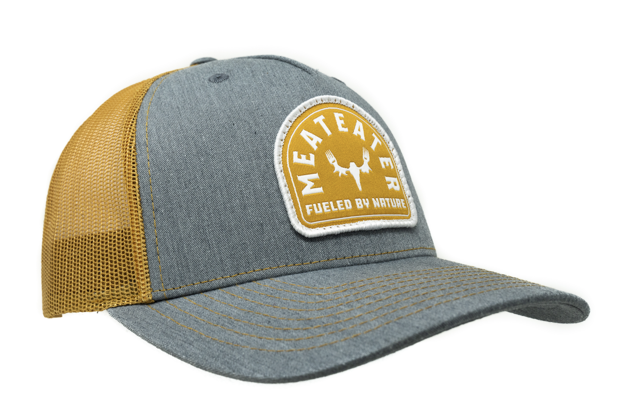 MeatEater Badge 5 Panel Trucker - Grey