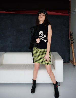 2000s BETSEY JOHNSON SKULL SWEATER