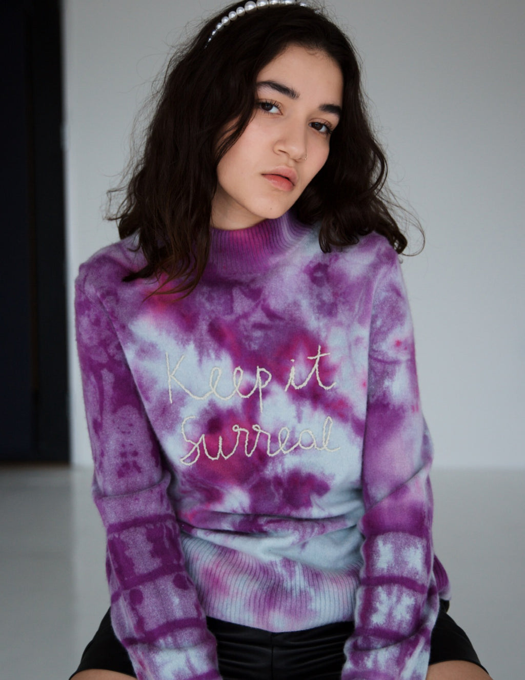 KEEP IT SURREAL TIE DYE CASHMERE SWEATER
