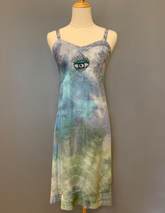 """THIRD EYE"" TIE DYE SLIP DRESS"