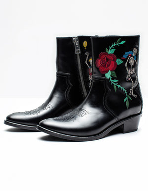 ZADIG & VOLTAIRE PILAR EMBROIDERED BOOTS