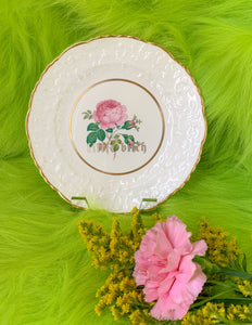 """LITTLE BITCH"" ROSE PLATE"
