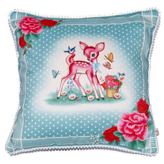 Cushion Pillow Cover  Pink Deer By Wu & Wu