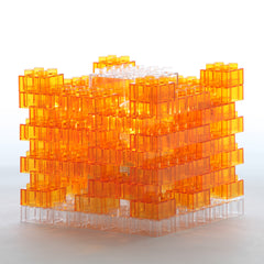 Summer Orange Brick DIY Lamp by KREATON