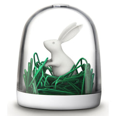 Bunny in the Field Paperclip Holder by Qualy