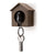 Single Sparrow Key Ring Holder  Brown House Original Design by Qualy