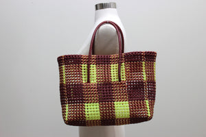 Tote in Brown & Yellow