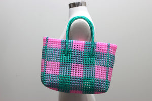 Tote in Pink & Green