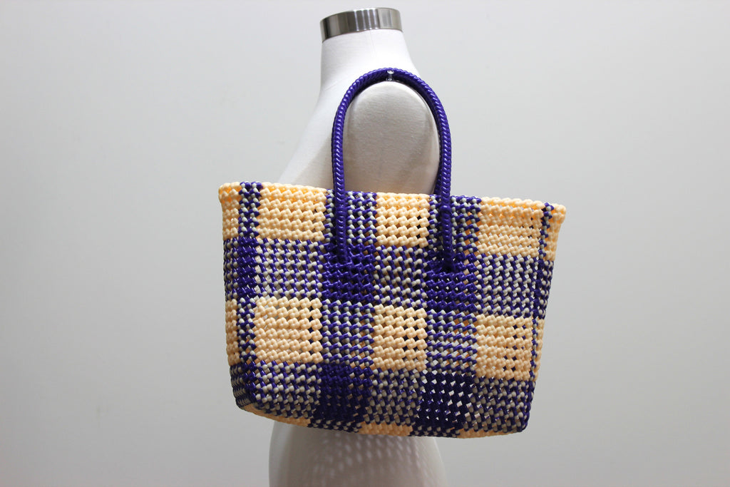 Tote in Yellow & Blue