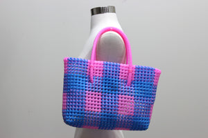 Tote in Pink & Blue