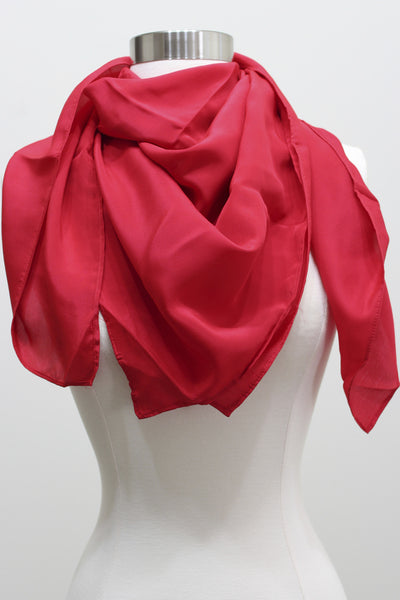 Silk Scarf - Red