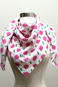 Silk Scarf - Rose