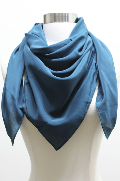 Silk Scarf - Dark Emerald Green