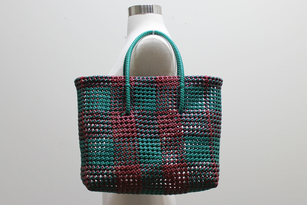 Tote in Brown & Green