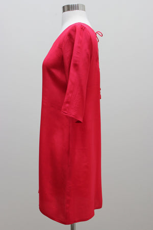 Silk Dress - Red