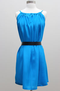 Silk Dress - Multiway Blue