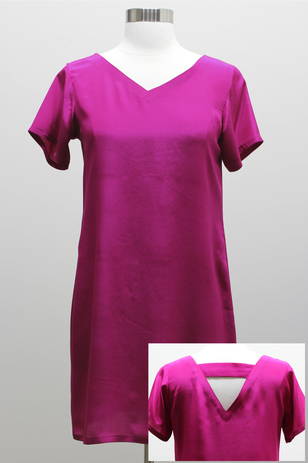 Silk Dress - Fuchsia