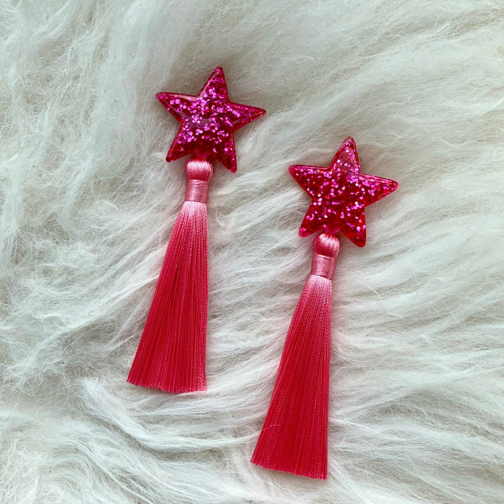 Be a Pink Starburst Earrings