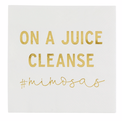 Mimosa Juice Cleanse Napkins