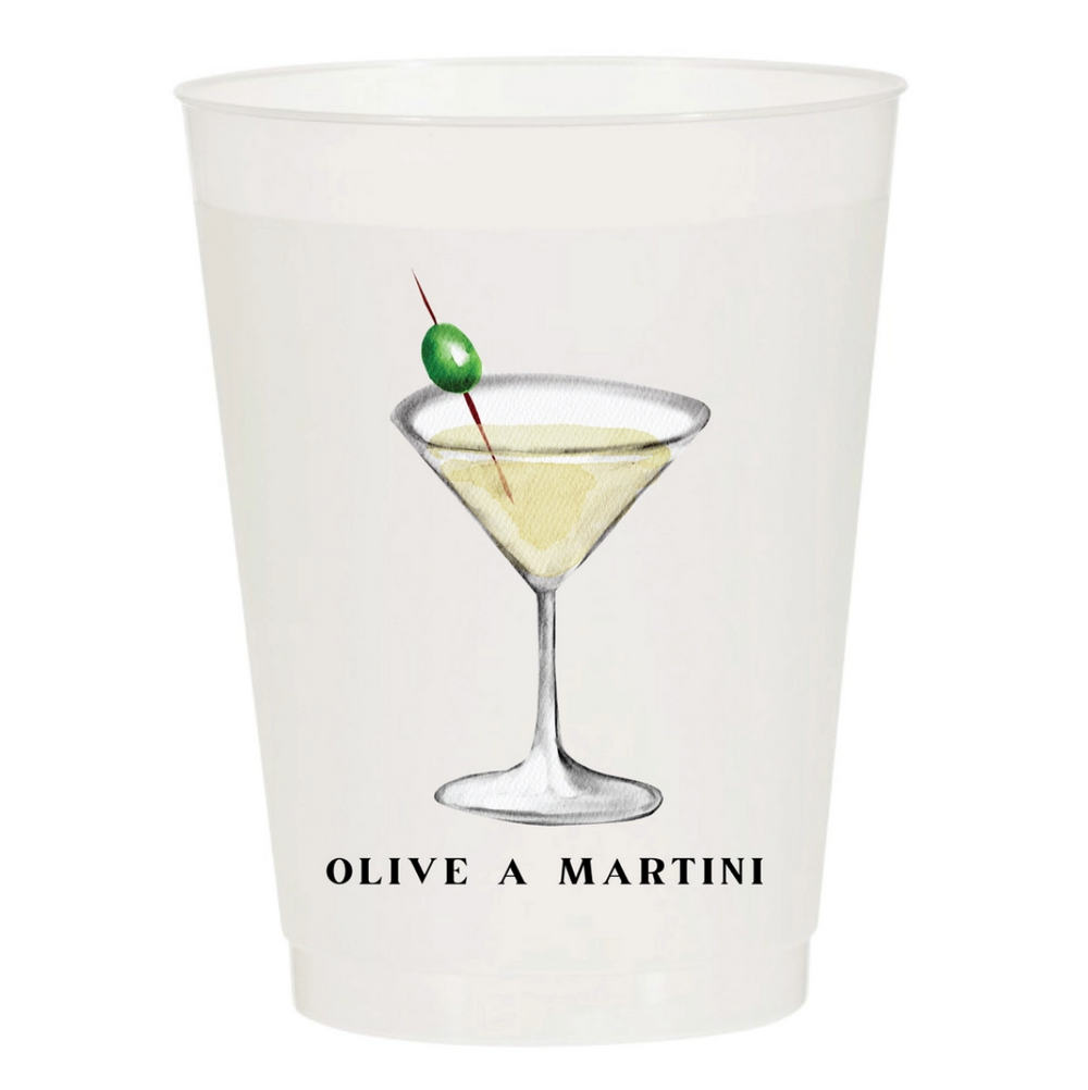 Olive A Martini Party Cups