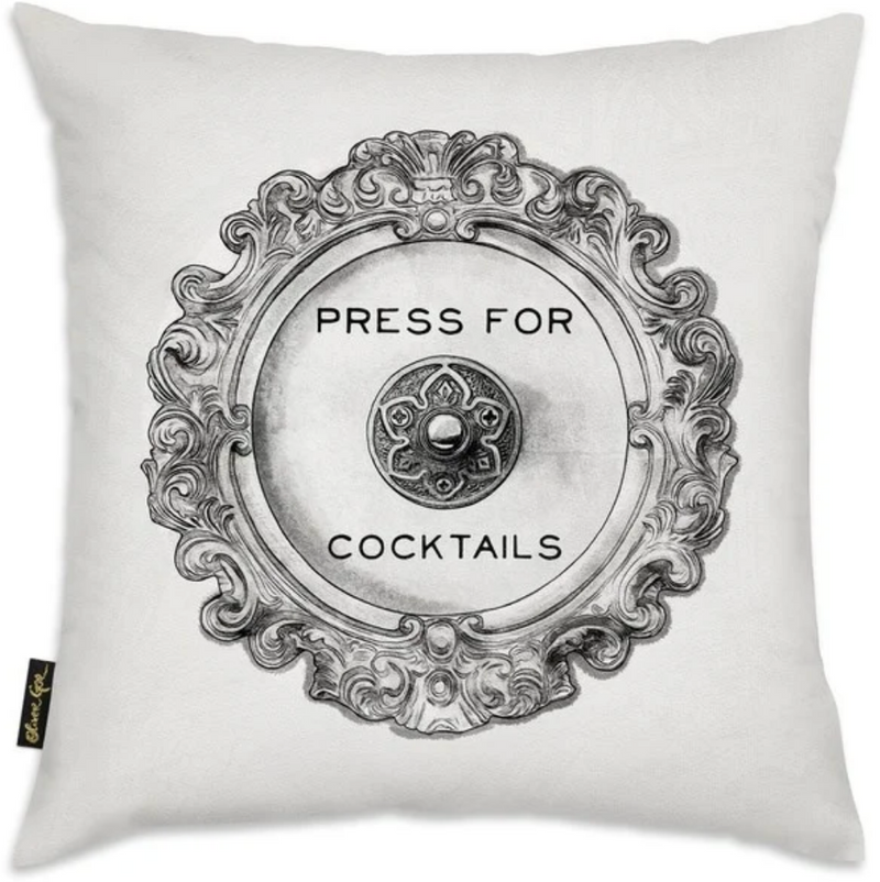 Press for Cocktails Throw Pillow
