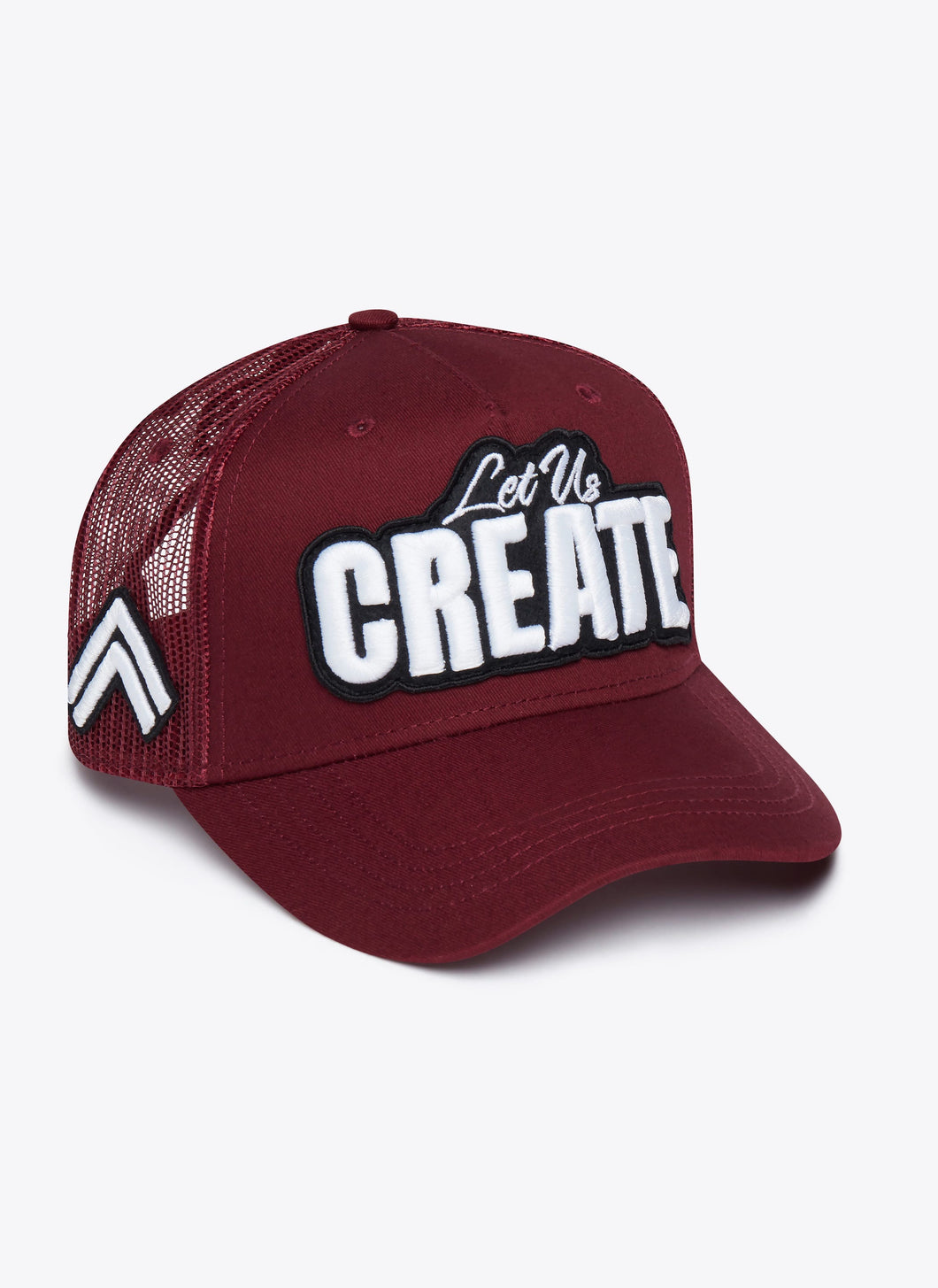 LIMITED EDITION BORDEAUX 3D EMBROIDERY TRUCKER CAP