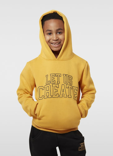 COLLEGE HOODIE - SAFFRON YELLOW - LUC Clothing