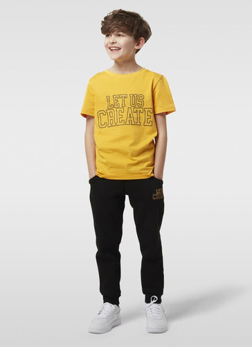 COLLEGE T SHIRT - SAFFRON YELLOW - LUC Clothing