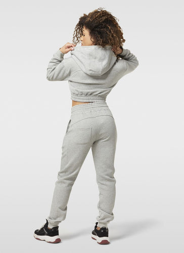 GREY HIGH WAISTED JOGGERS - LUC Clothing