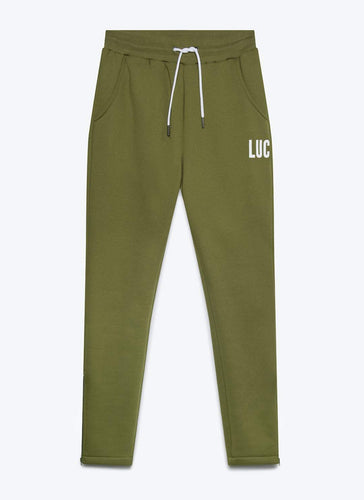 KHAKI JOGGERS WITH ZIP DETAIL - LUC Clothing
