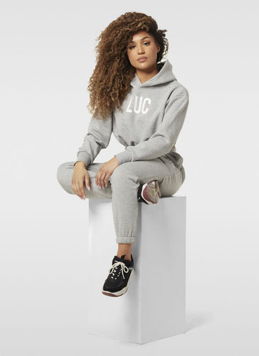 SIGNATURE GREY HOODIE - LUC Clothing