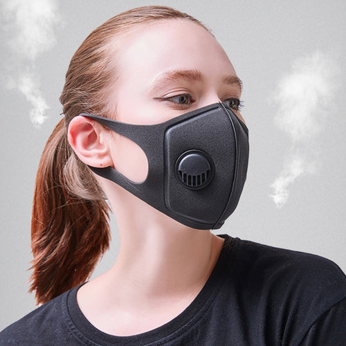 Dust mask with breathe valve