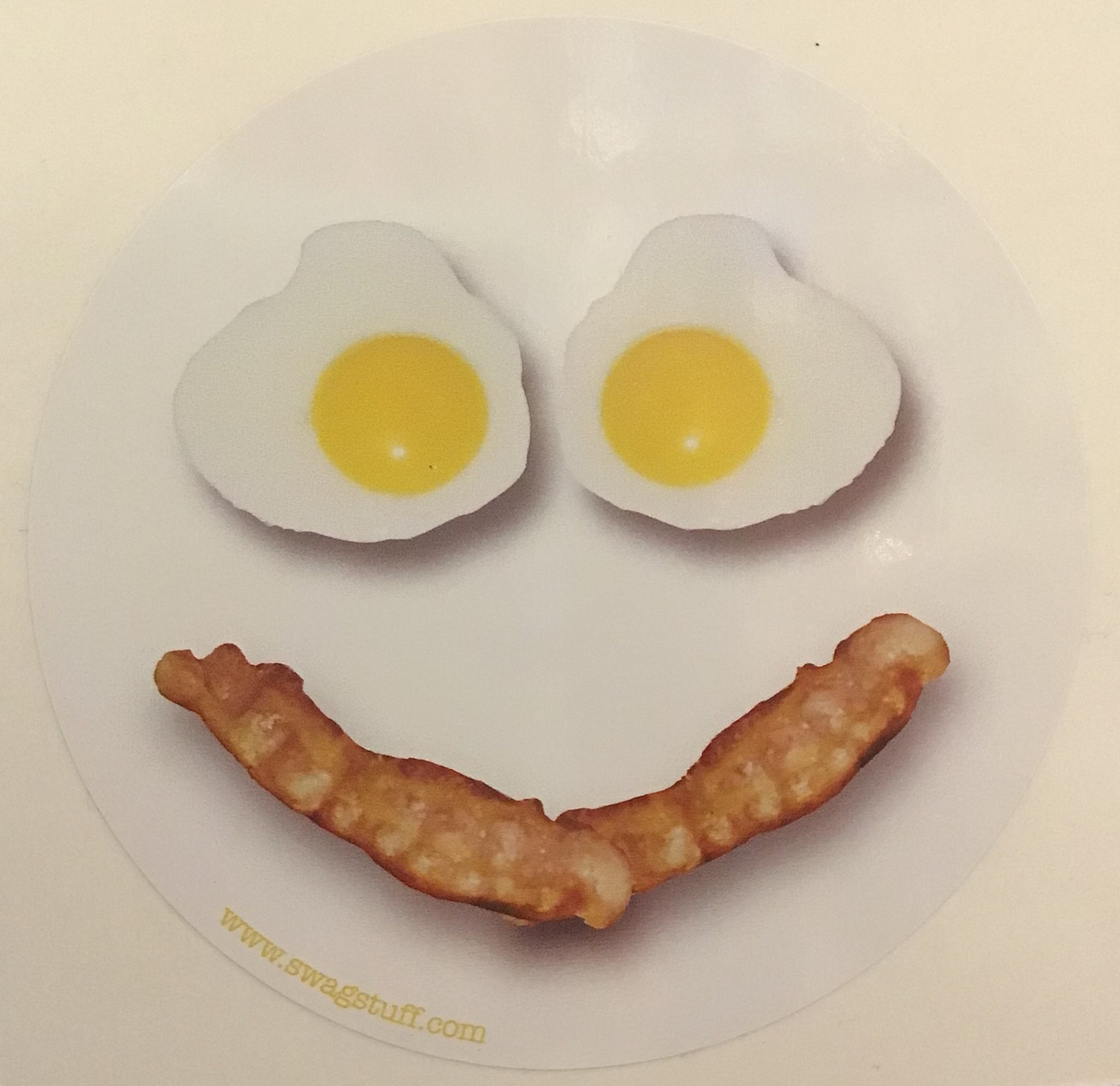 Sticker -bacon and eggs smile