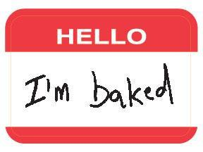 Sticker - Hello I'm : Baked