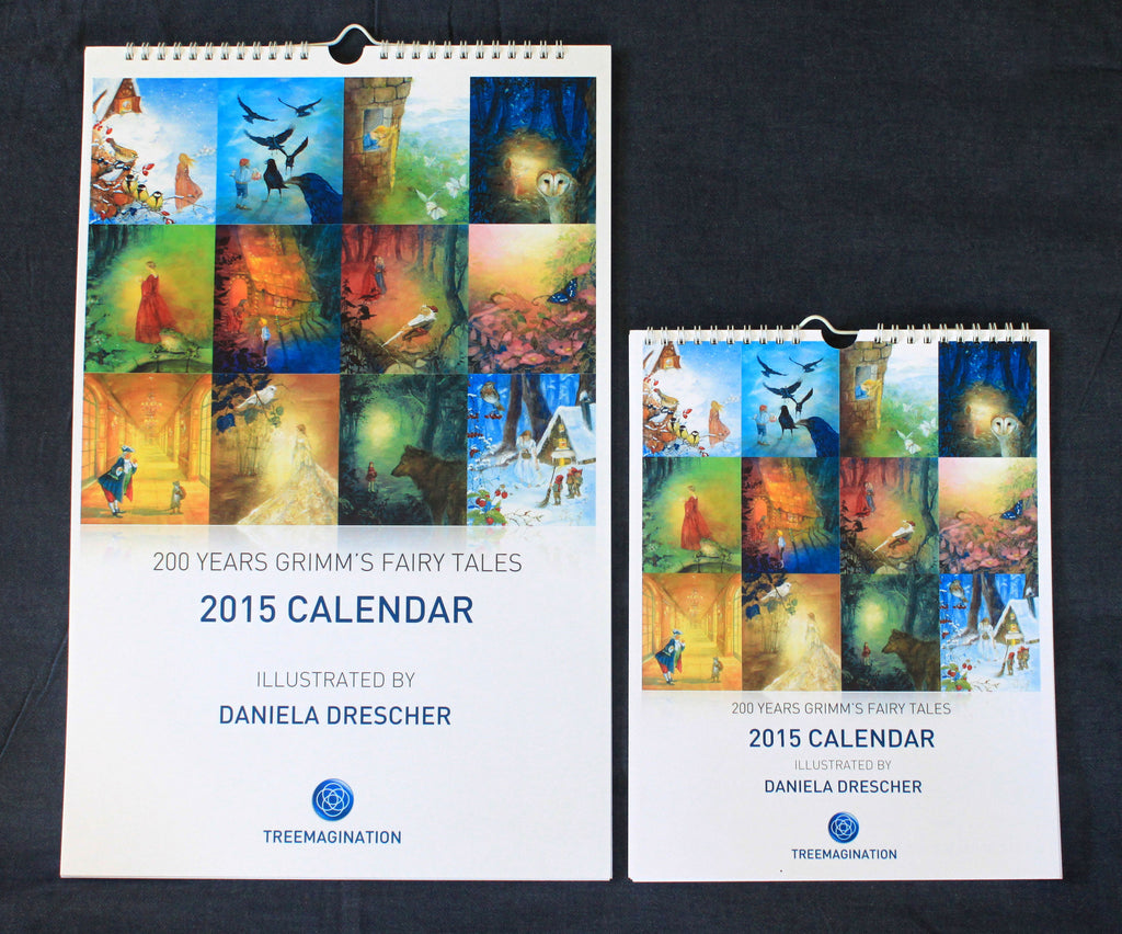 Grimm's Fairy Tales 2017 Calendars illustrated by Daniela Drescher (2 sizes)