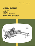 John Deere No. 14T Automatic Pickup Baler - Operator's Manual - Ag Manuals - A Provider of Digital Farm Manuals - 1