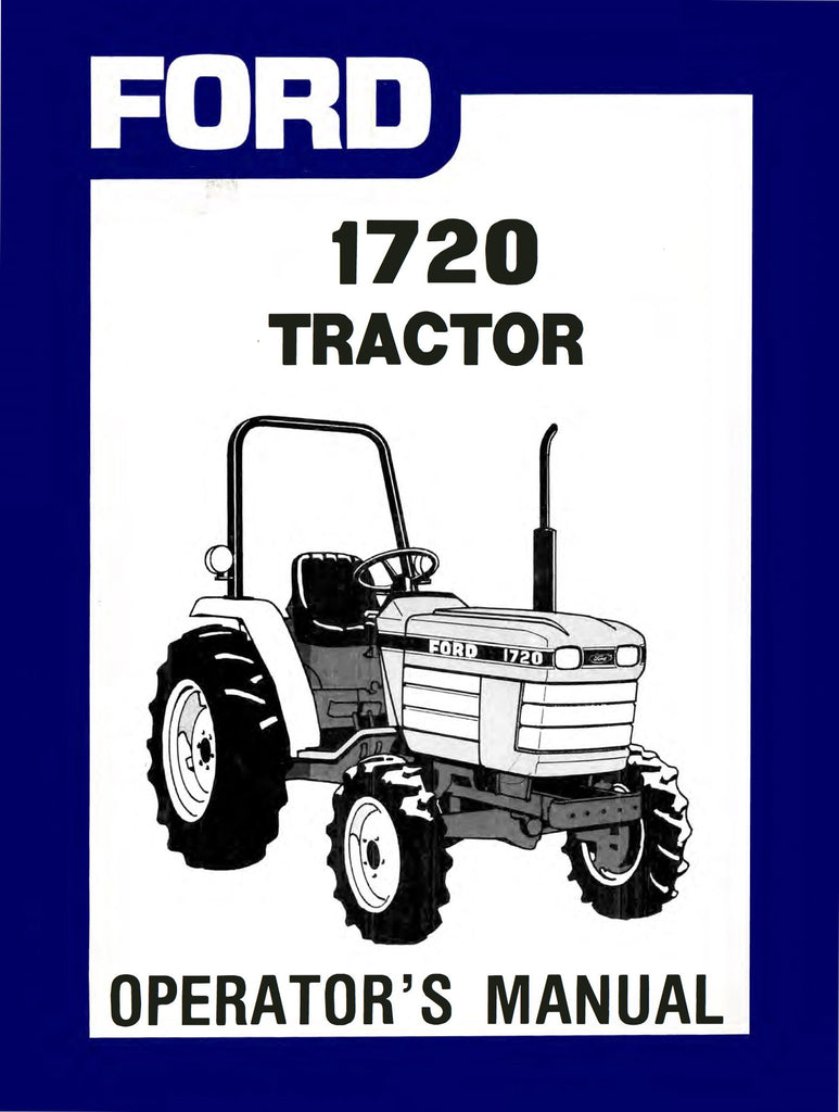 Ford 1720 Tractor - Operator's Manual - Ag Manuals - A Provider of Digital  Farm Manuals
