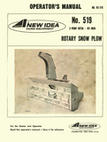 New Idea No. 519 Rotary Snow Plow - Operator's Manual - Ag Manuals - A Provider of Digital Farm Manuals - 1