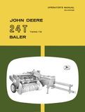 John Deere 24T Twine - Tie Baler - Operator's Manual - Ag Manuals - A Provider of Digital Farm Manuals - 1