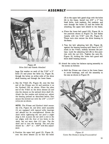 Ford Rear Attached Mower Series 501 - Operator's Manual