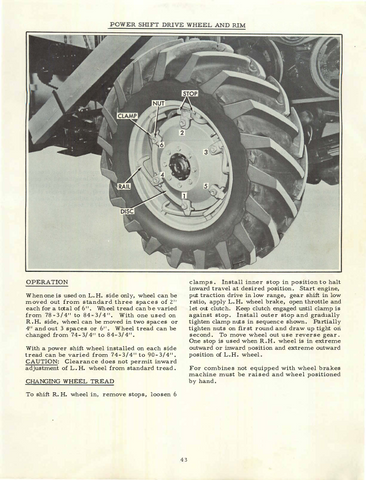 Industrial Reputation First Allis Chalmers Gleaner Combines Booklets