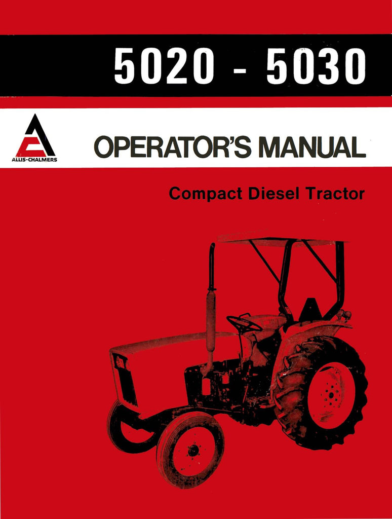 Allis Chalmers Model D17 Tractor Series Iv Four Parts Catal Engine Diagram 5020 5030 Compact Diesel Operators Manual Ag Manuals