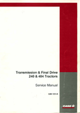 Case IH Transmission & Final Drive 240 & 404 Tractors - Service Manual - Ag Manuals - A Provider of Digital Farm Manuals - 1