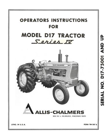 D17_Operator_s_Manual_1_ddfaf3f9 fade 459b a34e ce01dbcbff24_large?v=1462479282 allis chalmers model d17 tractor series iv (series four) operator's allis chalmers 5040 wiring diagram at n-0.co