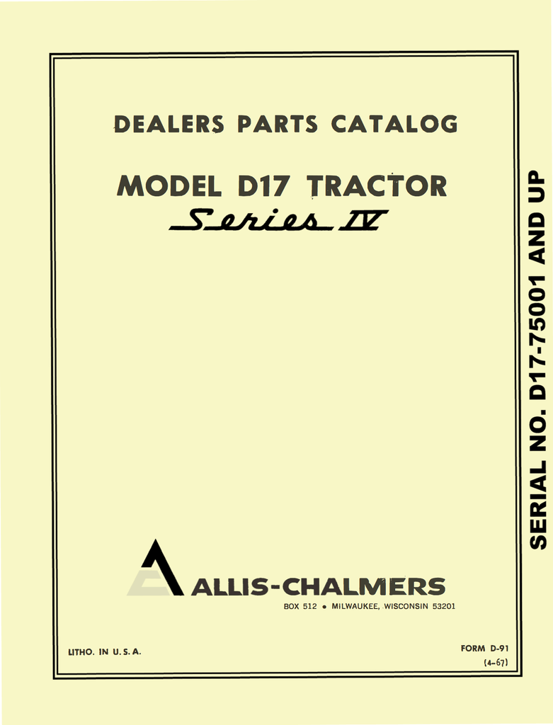 D17_Parts_Catalog_1_d840d856 4541 4096 98af 0b395abe3e47_1024x1024?v=1462479294 allis chalmers model d17 tractor series iv (series four) operator's allis chalmers d17 wiring diagram at crackthecode.co