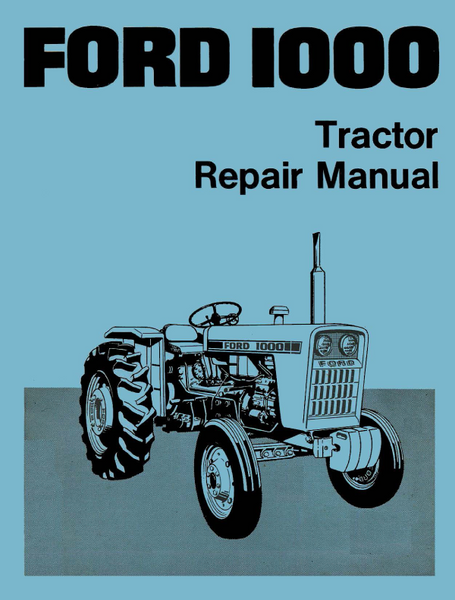 diesel tractor alternator wiring diagram ford 1000    tractor    repair manual  ford 1000    tractor    repair manual
