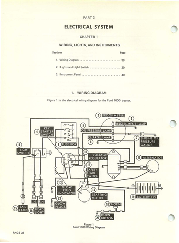 ford 1000 tractor repair manual Ford 2000 Tractor Wiring Diagram