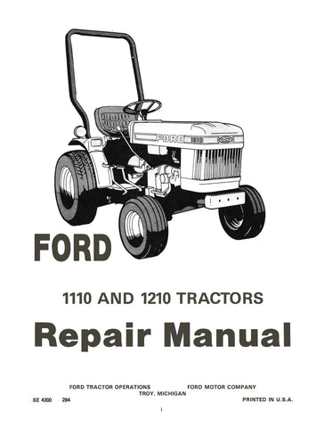 Ford 1110 and 1210 Tractors - Repair Manual