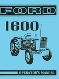 Ford 1600 Tractor - Operator's Manual - Ag Manuals - A Provider of Digital Farm Manuals - 1